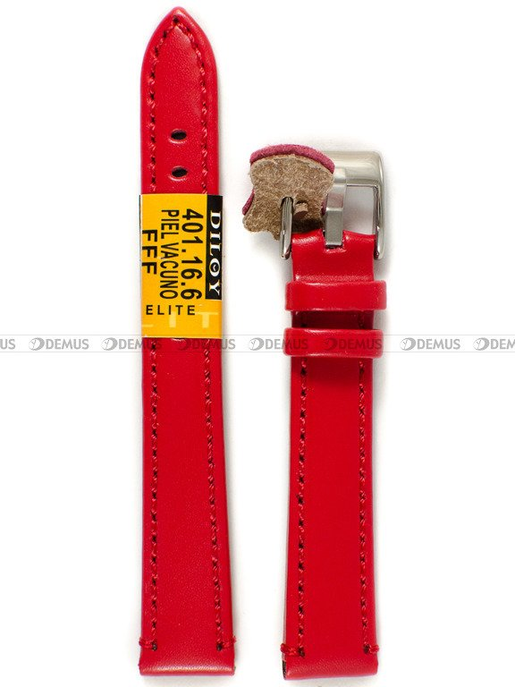 3ac1e42b79c506 Pasek skórzany do zegarka - Diloy 401.16.6 - 16 mm | Sklep ...