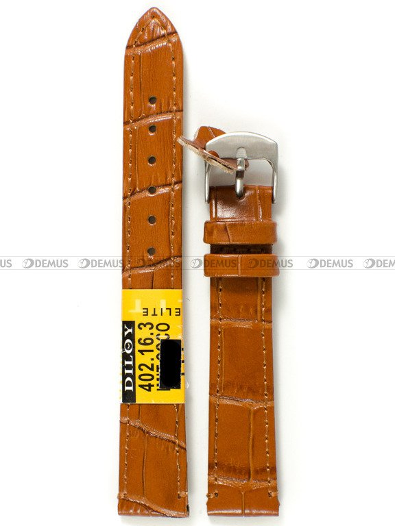 2b2b43bb736fe1 Pasek skórzany do zegarka - Diloy 402.16.3 - 16 mm | Sklep ...