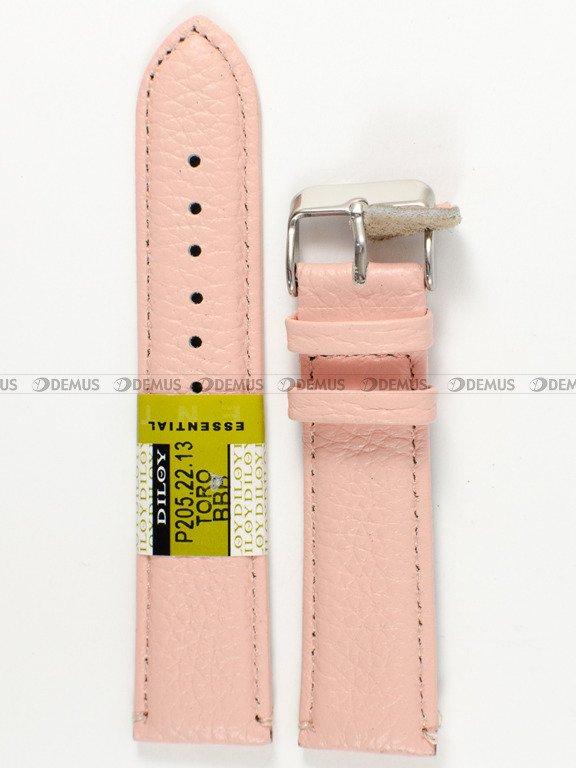 95a05effaa5753 ... Pasek skórzany do zegarka - różowy - Diloy P205.22.13 - 22 mm ...